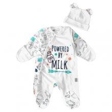 Набір немовляти чоловічок з шапочкою Powered by milk