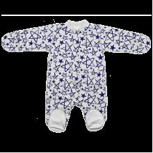 Человечек для новорожденных на кнопках Звезда с серой отделкой