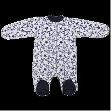 Человечек для новорожденных на кнопках Звезда с синей отделкой