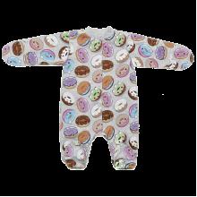 Человечек для новорожденных на кнопках Пончик