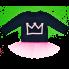 Трикотажный джемпер для девочки с фатином Корона