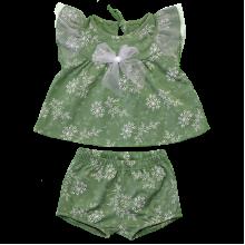 Комплект для девочки с шортиками с бантиком