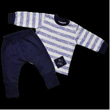 Трикотажный комплект для новорожденных Морячок с начесом