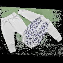 Трикотажный комплект для новорожденных  с начесом Звезда