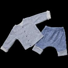 Трикотажный костюм для новорожденных  Джинс