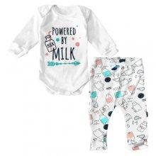 Дитячий костюм боді зі штанами Powered by Milk