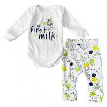 Дитячий костюм боді зі штанами But First Milk