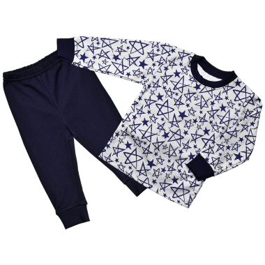 Детская теплая  пижама для мальчика Синяя звезда
