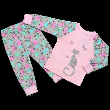 Детская пижама для девочек Яркие  Коты
