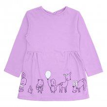 Детское платье с принтом Зверушки
