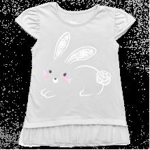 Детское трикотажное платье Зайчик с фатином