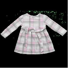 Детское платье в клетку с длинным рукавом