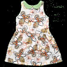 Трикотажное летнее платье в цветок