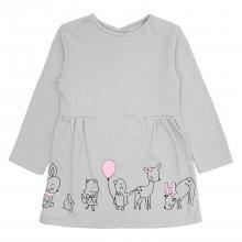 Детское платье c защипами на талии Зверушки