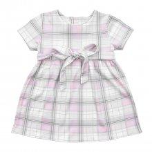 Детское платье  с коротким рукавом в клетку